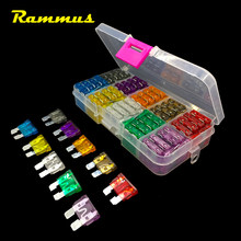 Rammus 100 pcs 2A-35A Universal Mista Motocicleta SUV Boat Truck Car Auto Automotive Lâmina Fusível Variedade Mão DIY Repair Kit(China)