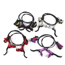 New Taiwan ZOOM HB-875 Mtb Hydraulic Brake Kit 750/1350 mm Bicycle Disc Brake Bike Parts 4 Colors 1 pair hb 875 bike hydraulic brake kit 750 1350 mm mtb bicycle disc brake set front and rear bike parts