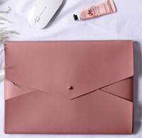 ULIFART Pink Leather Tablet Pouch Sleeve Cover High Quality PU Leather For For ipad pro 12.9 case/Macbook Pro13inch