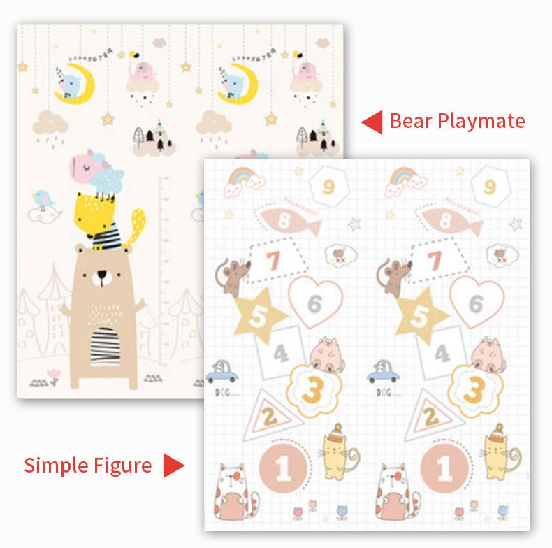 HTB1HiNkb8Kw3KVjSZFOq6yrDVXaR Infant Shining 200cm*180cm*1cm Baby Play Mat Folding XPE Crawling Pad Home Outdoor Folding Waterproof Puzzle Game Playmat