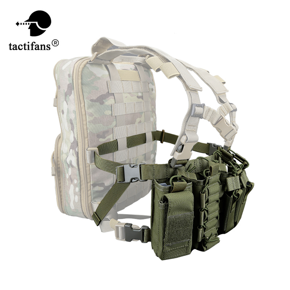 Tactifans D3 Chest Rig Plate Carrier Tactical Vest With Rifle M4 5 56 AK Single Double