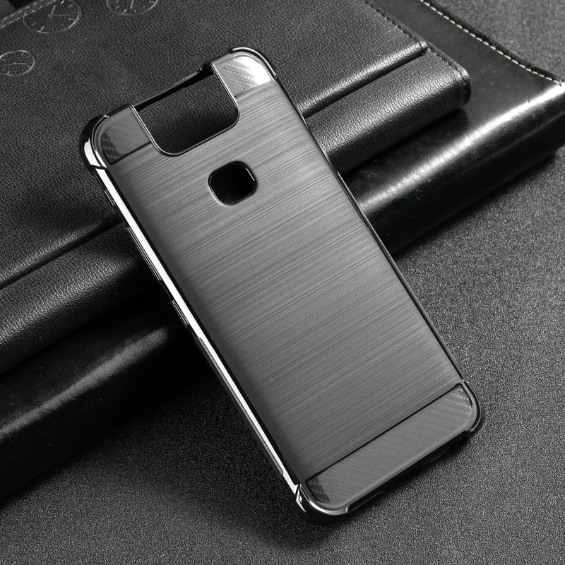 For <font><b>Asus</b></font> <font><b>Zenfone</b></font> <font><b>6</b></font> <font><b>2019</b></font> <font><b>Case</b></font> Silicone Carbon Fiber Full Protection Cover <font><b>Case</b></font> On for <font><b>Zenfone</b></font> <font><b>6</b></font> ZS630KL 6Z Shockproof Bumper image