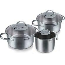 Набор посуды Rondell Symphonia 6 предметов RDS-382 (Нержавеющая сталь, подходит для всех типов плит, подходит для посудомоечной машины)