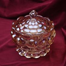 Roman Nordic storage crystal glass jar of sugar pot jewelry decoration furnishing articles wedding desktop candy storage decor