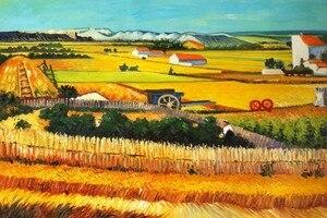 Урожай в Арле, C.1888 от Винсента Ван Гога Урожай ручной работы картина маслом репродукции с музейным качеством Прямая поставка