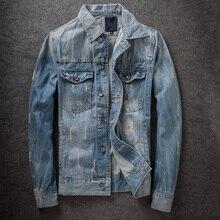 Autumn New Trendy Slim Jaqueta Jeans Masculina Vintage Quality Mens Jackets And Coats