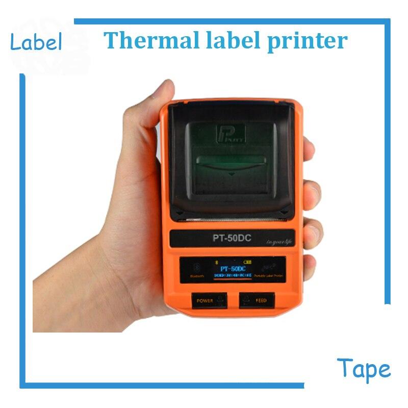 2018 New arrival high quality Mini portable label maker printer label tape printer thermal label printer machine Max 50mm paper цены