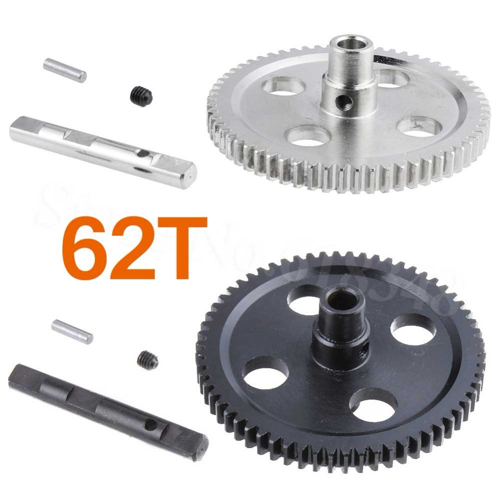 Metal Spur Differential Main Gear 62T 0015 For WLtoys 12428 12423 1/12 RC Car Crawler Short Course Truck Upgrade Parts wltoys 12428 12423 1 12 rc car spare parts 12428 0091 12428 0133 front rear diff gear differential gear complete