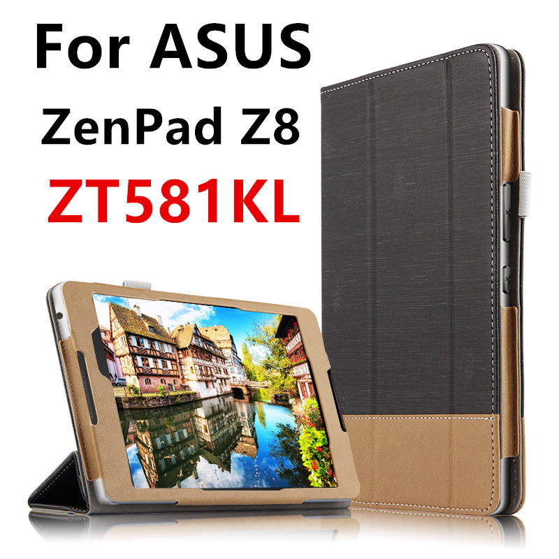 Case For ASUS ZenPad 3 8.0 Z581KL Protective PU Smart cover Protector Leather Tablet PC For ASUS ZenPad Z8 ZT581KL Sleeve 7.9 asus zenpad 3s 10 z500m tablet pc