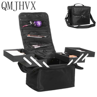 New 2018 High Quality Professional Empty Makeup Organize Bolso Mujer Cosmetic Case Travel Large Capacity toiletry Bag Suitcases