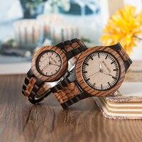 2017 Fashion Brand Watch Men BOBO BIRD Wooden Watches Zebra Wooden Strap Quartz Ladies Wristwatch Relogio