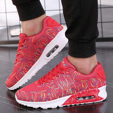 2017 New Fashion Woman Casual Sport Breathable Unisex Air Mesh Lace-up Lover Shoes Couple Walking Lightweight Zapatos Corrientes