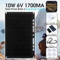 LEORY 10W 6V 1.7A фотоэлектрические солнечные батареи с USB зарядным устройством Полугибкие монокристаллические солнечные панели для мобильного т...