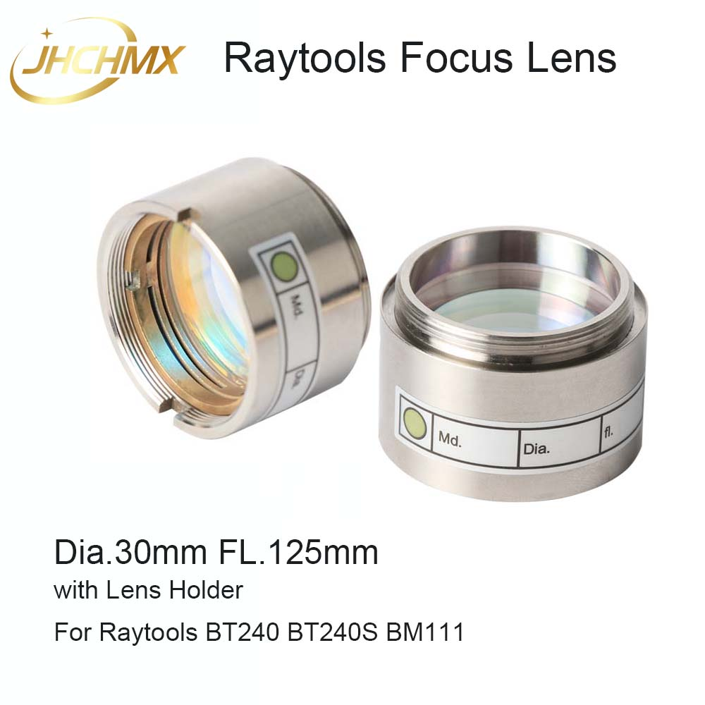 JHCHMX Raytools Focus Lens D30 F125mm With Lens Holder for 0 4000W BT240 BT240S BM111 BM109