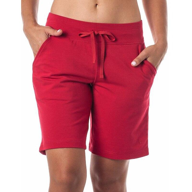 Online Get Cheap Cotton Shorts Women Elastic Waist Plus Size ...
