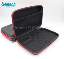 Glotech E cigarette zipper case bag for Electronic Cigarettes box mod RDA RBA vaporizer coil jig tools case bag