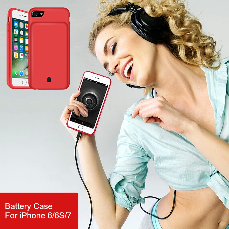 4500 7000 font b mAh b font External Battery Charger Case For iphone 7 8 Plus