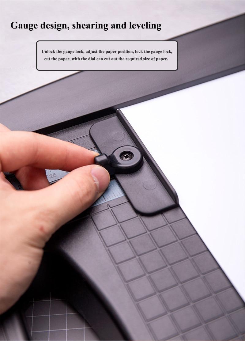 plástico aparador de papel com cortador de papel scaler