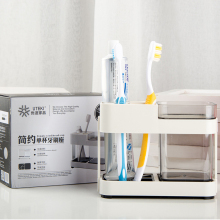 Toothbrush Box Holder Cup Bathroom Storage Toilet Two Removable Dental Appliances Toothbrush Box Seat Creative Bathroom Supplies