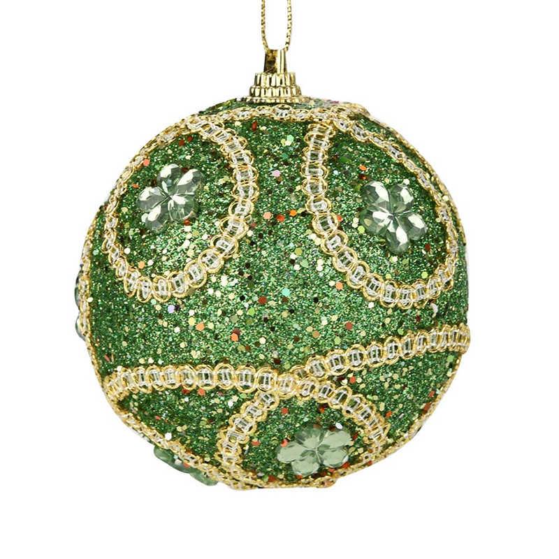 1Pc Christmas Santa Rhinestone Glitter Baubles Ball 8cm Xmas Tree Ornament Decor Gift New Years Home Decor #2o29 (6)