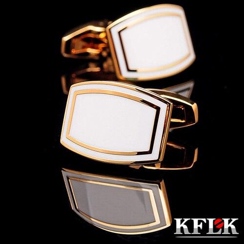 KFLK Jewelry 2018 Shirt Cufflink For Men Brand Cuff Button Wedding Cuff Link High Quality Gold Abotoaduras Gemelos Jewelry