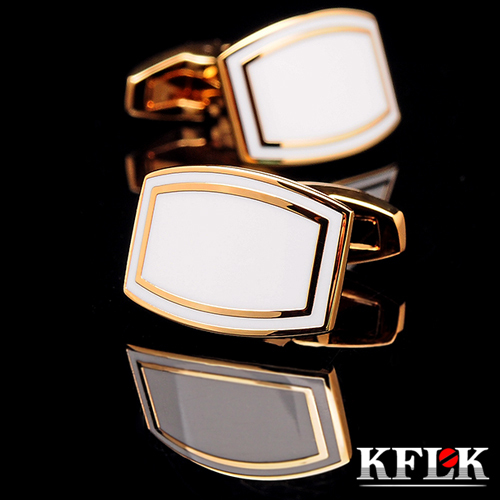 KFLK jewelry 2020 shirt cufflink for men Brand cuff button wedding cuff link High Quality Gold abotoaduras gemelos Jewelry