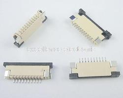50 sztuk FPC 1mm skok 10 Pin typ szuflady wstążka płaskie złącze mających kontakt z dnem do ekranu LCD interfejs z MP3/DVD/telefon|contact connector|contact pinscontact phone -