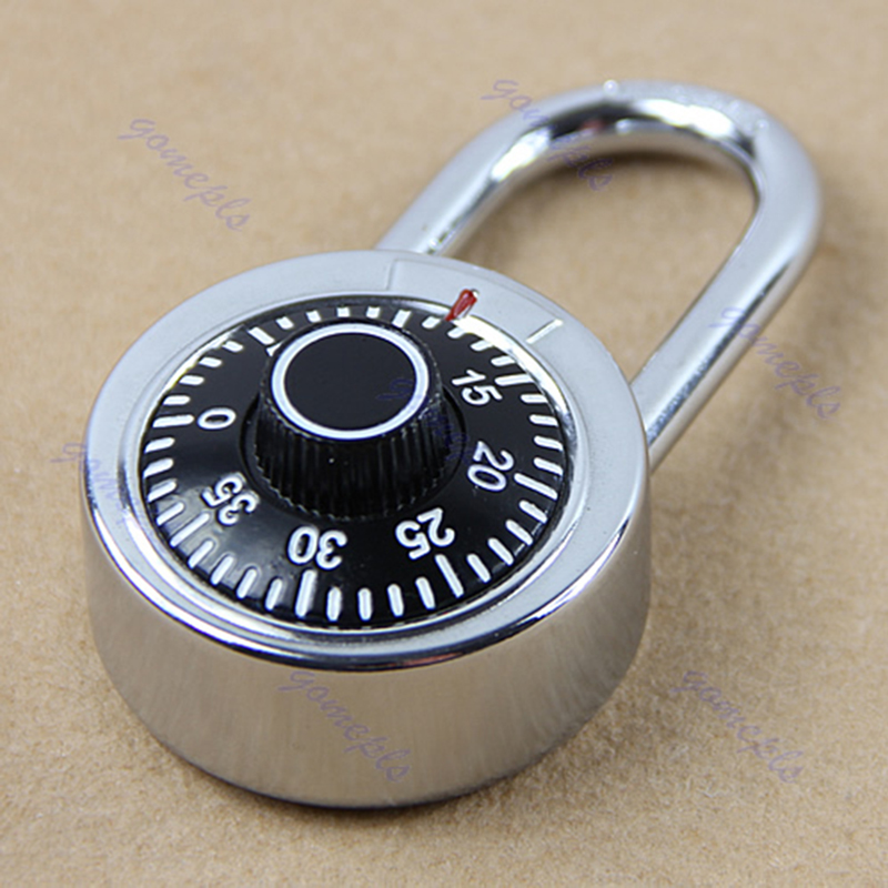Hardened Steel Shackle Dial Combination Luggage Suitcase Locker Lock