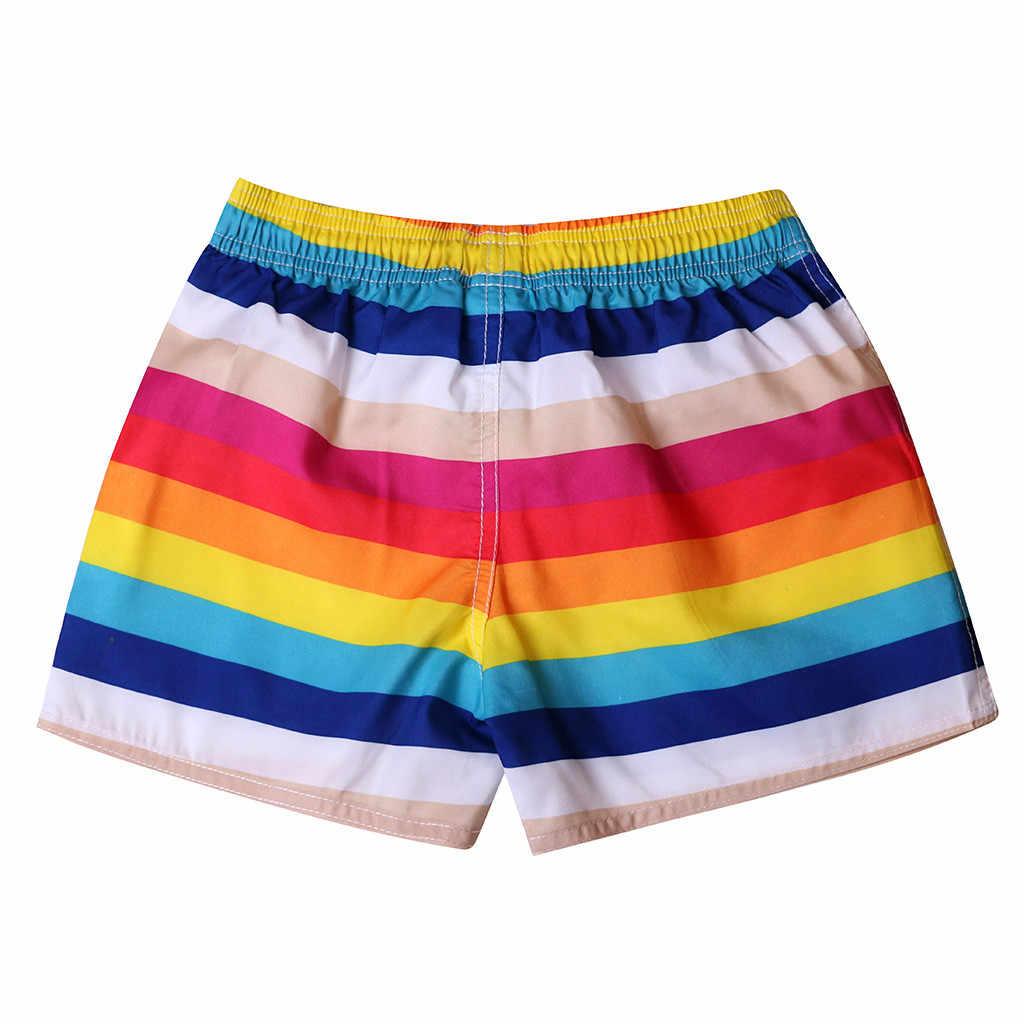 Womail erkekler şort yaz Plaj Baskı Yüzmek mayo Hızlı Kuru Plaj Sörf Koşu Watershort Günlük denim renk dropship j24