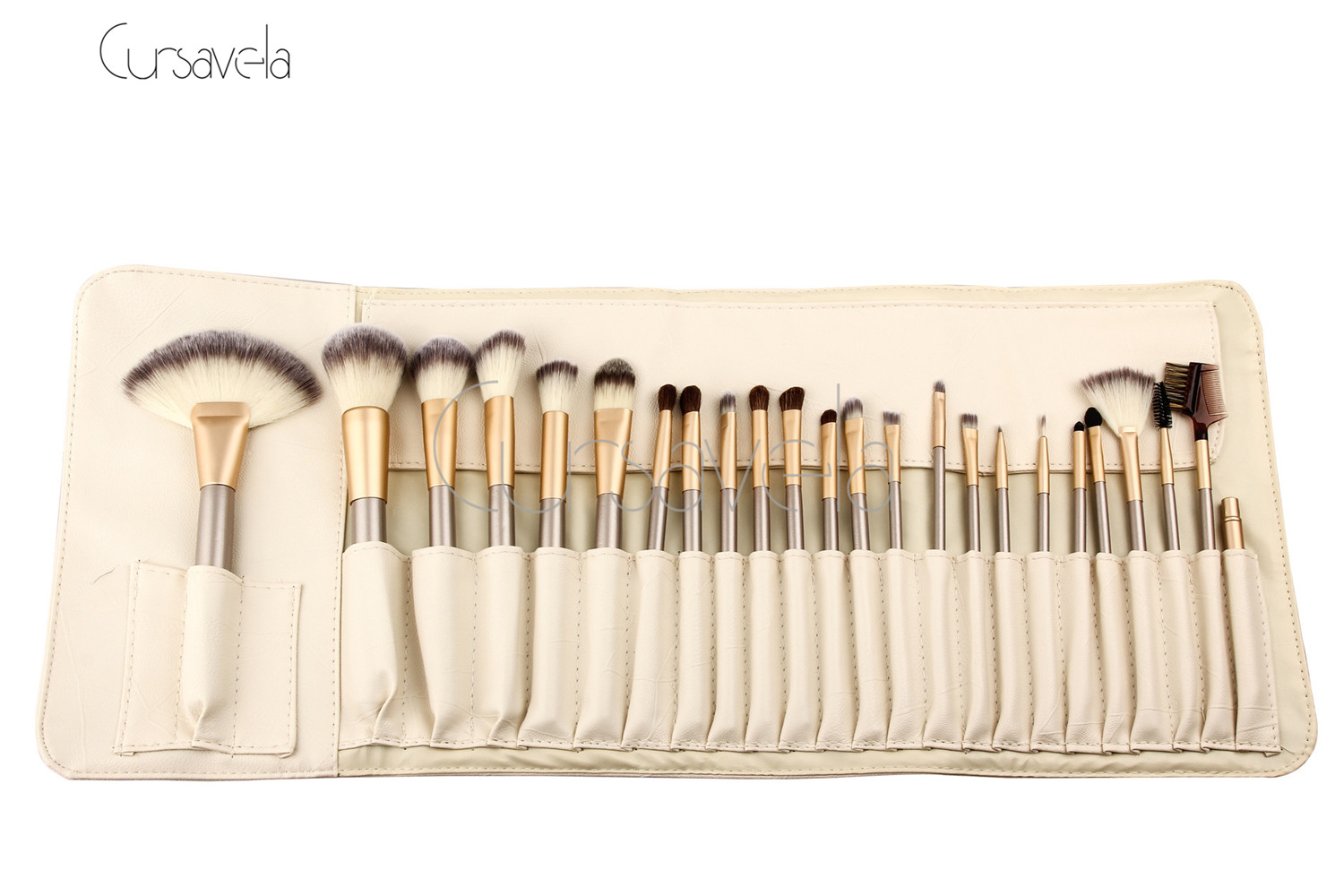 Champagne White Makeup Brush Set Professional Cosmetic Versatile Makeup Brush 2016 Hot Sell Beauty Tools