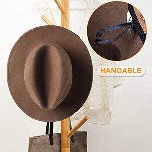 Image 5 - Furtalk 女性男性の fedora 帽子 100% オーストラリアウール fedora の帽子フェルトワイドつばヴィンテージジャズ帽子ファム秋冬キャップ