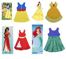 Summer Baby Girls Cinderella Dresses Children Snow White Princess Dresses Rapunzel Aurora Kids Party Halloween Costume Clothes