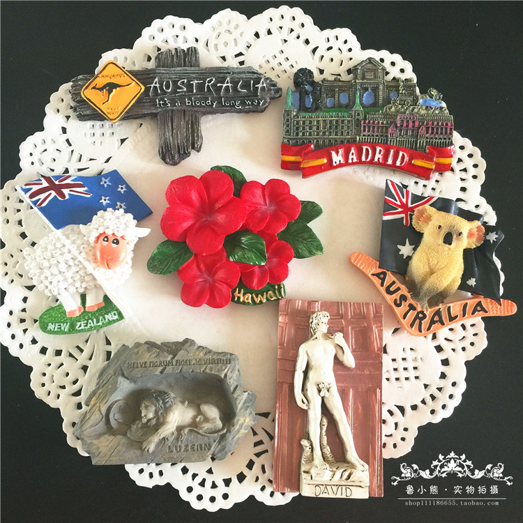 Australia <font><b>New</b></font> <font><b>Zealand</b></font> series 3D Refrigerator Magnetic Stickers Cora <font><b>Fridge</b></font> <font><b>Magnets</b></font> <font><b>Souvenir</b></font> Home DecorationTravel <font><b>Souvenir</b></font> image