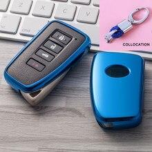 2019 חדש רך TPU מפתח כיסוי מקרה עבור לקסוס NX GS RX הוא ES GX LX RC 200 250 350 LS 450H 300H רכב סטיילינג מפתח הגנה keychain