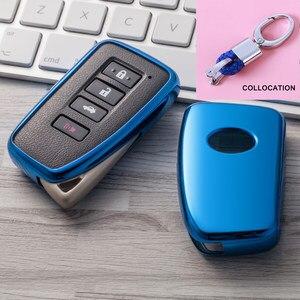Image 1 - 2019 nowy miękki TPU klucz pokrywy skrzynka dla Lexus NX GS RX IS ES GX LX RC 200 250 350 LS 450H 300H Car Styling klucz ochrony brelok