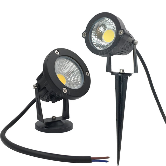 10 X Ip65 Led Landscape Spike Light 5w Cob Garden Lights 12v Outdoor