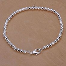wholesale price 50% discount silver bracelet jewelry silver fashion jewelry 4mm Budda ball Bean Bracelet/DFEWRFT KN-H198