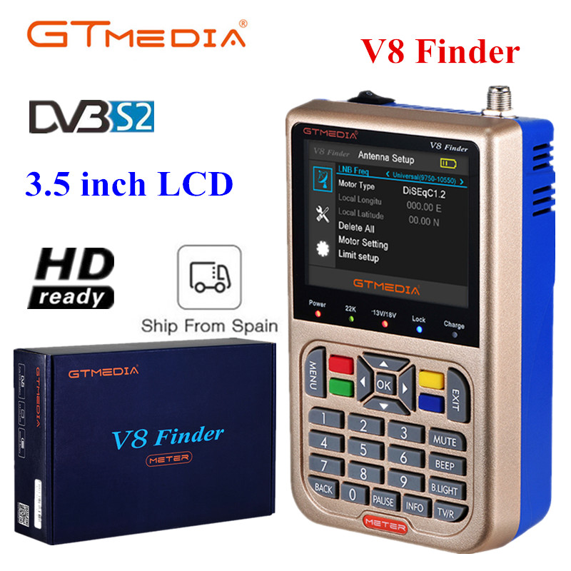 GTMEDIA V8 satellite finder Digital HD DVB S2 High Definition Full 1080P sathero MPEG 4 FTA