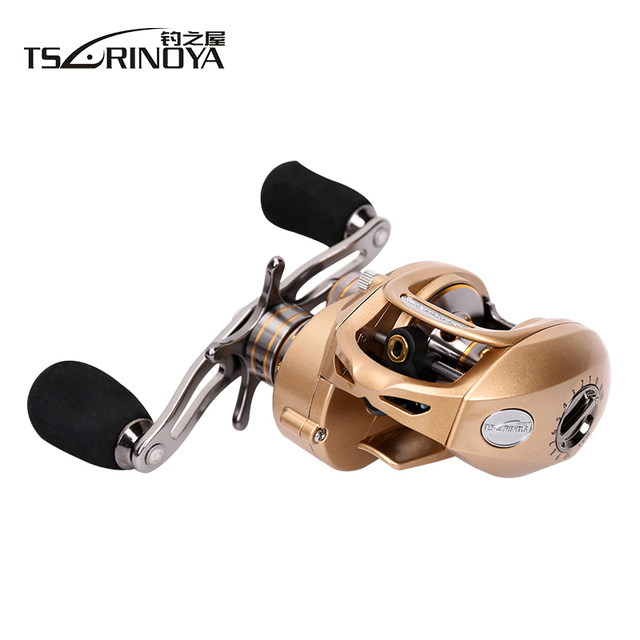 TSURINOYA EX-150 Baitcasting Fishing Reel 9+1BB Left or Right Hand Bait Casting Molinete Centrifugal & Magnetic Brake Carretilha