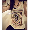 Korean Fashion Womens Summer Vest Top Sleeveless Tank Tops Casual Blouse T-Shirt