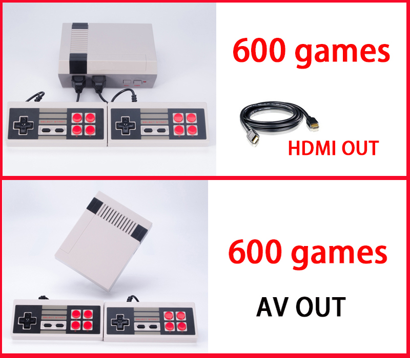 HDMI Out Retro Classic handheld game player Family TV video game console Childhood Built-in 600 Games For nes mini HDMI