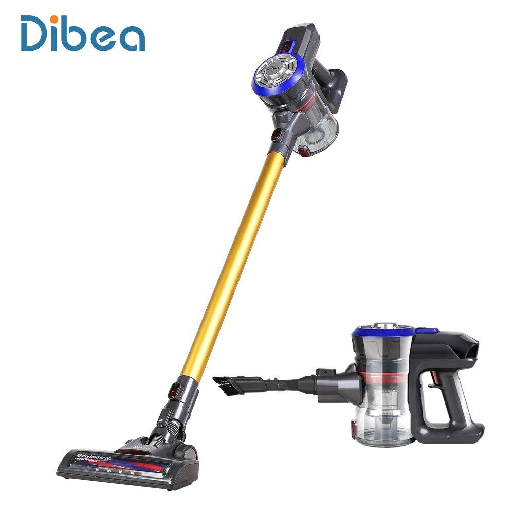 Dibea D18 Version Améliorée Léger Sans Fil De Poche Bâton De Voiture Aspirateur, 9000 pa Puissant Aspiration Sans Sac Rechargeable
