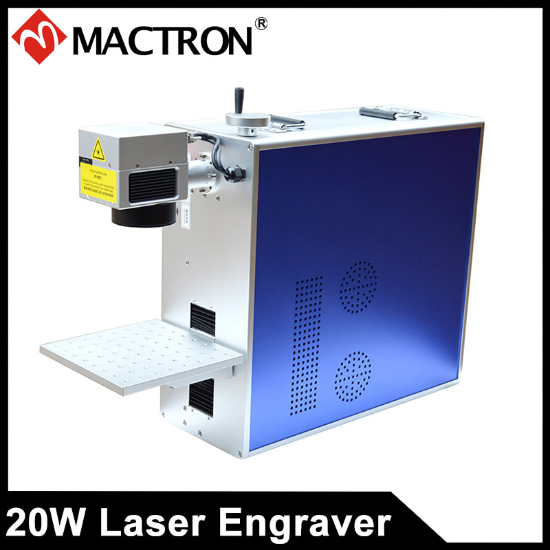 Portable Mini Type 20W Fiber Laser Engraving Machine For Engraving/Printing On PCB/Jewelry/Electronic Component