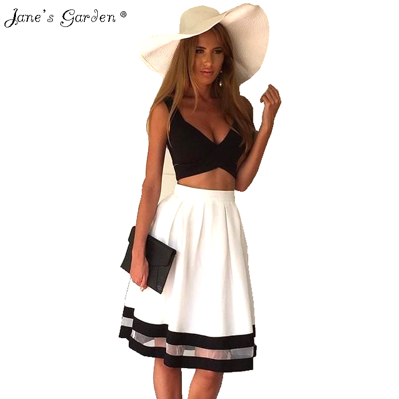 2017 Summer Sexy Chic Women Dress Two 2 Piece Set -1343