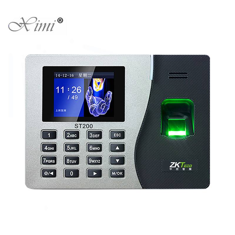 Fingerprint TCP/IP USB Password Office Time Clock Employee Recorder Device ZK ST200 Biometric Time Attendance System