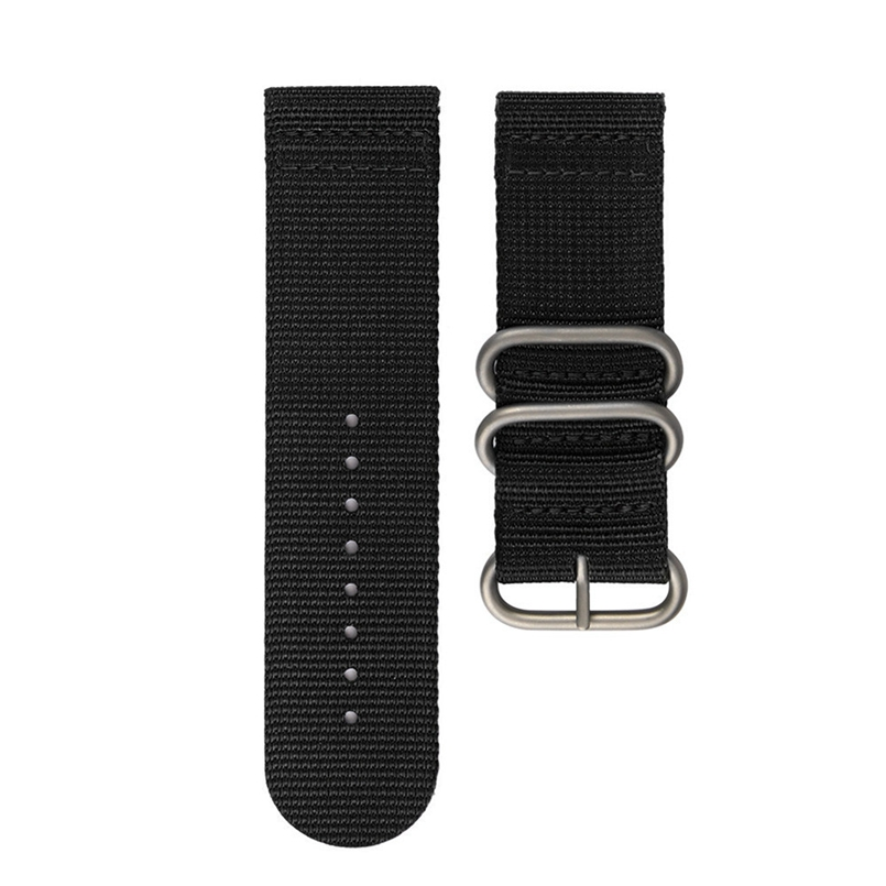 Excellent Quality Nylon Watch Band 26mm Luxury Nylon Strap Silver Ring Watch Replacement Band ForFor Garmin Fenix 5X GPS Watch