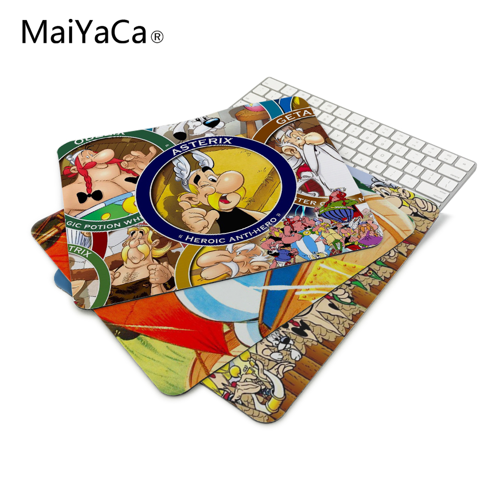MaiYaCa New Arrivals Asterix And Obelix Characters Wallpaper Mouse Mats Anti-Slip Rectangle Mouse Pad Rubber Gaming mousepad
