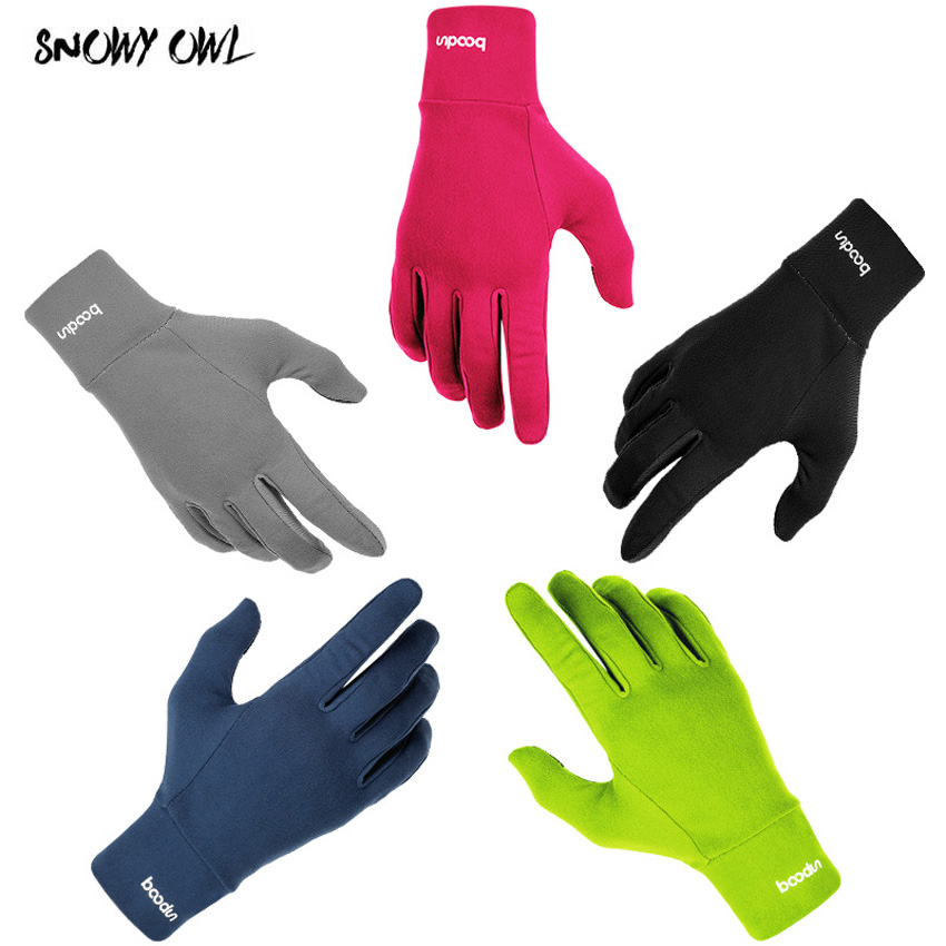 Outdoor Sports Gloves Men Women Warm Windproof Cycling Hiking Climbing Running Ski Full Finger Screen Gloves 5 Colors H23
