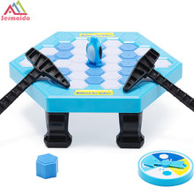 SERMOIDO Penguin Trap Interactive Ice Breaking Table Penguin Trap Antistress Toy Activate Fun Toy For Kids Family Funny Game A50 interactive ice breaking table penguin trap children funny game penguin trap activate entertainment toy family fun game with box