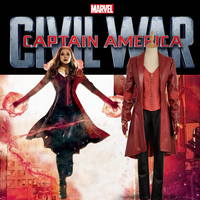 Captain America 3 : Civil War Costume Wanda Maximoff Scarlet Witch Battleframe Fashion Adult Clothing Cosplay Costume